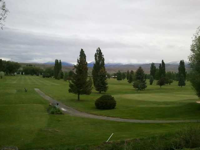 A view of a green at Salmon Valley Golf Course.