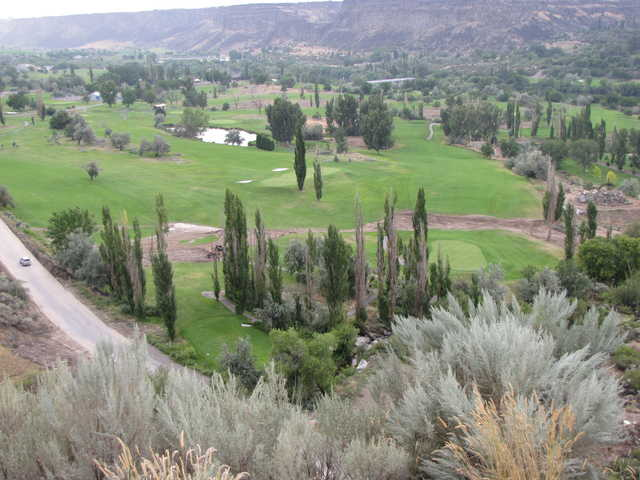 A view from Canyon Springs Golf Course.