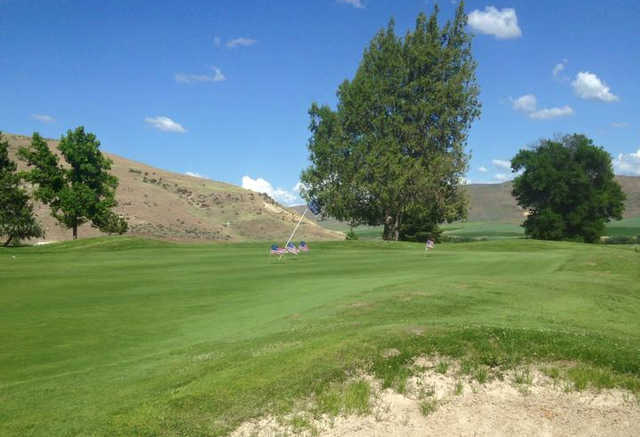 A view of a green at Rolling Hills Golf Course.