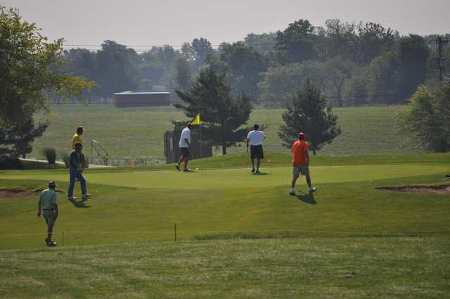 A view of a green at  K's Creek Golf Club .