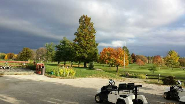 A fall day view from Dayton Ridge Golf Club.