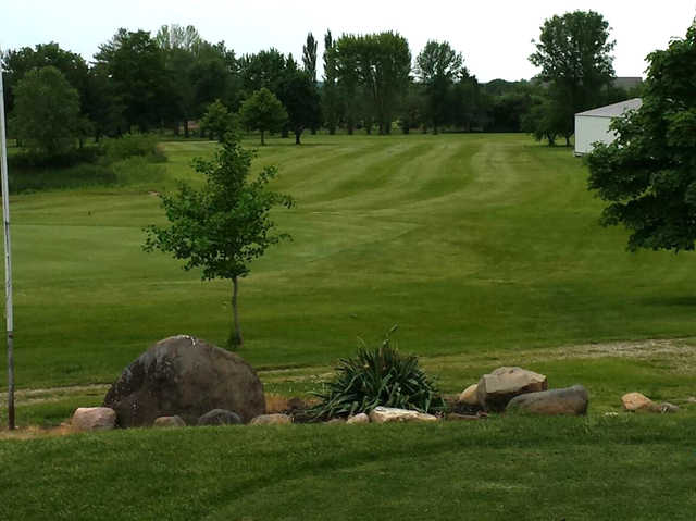 A view of a fairway at Dayton Ridge Golf Club.