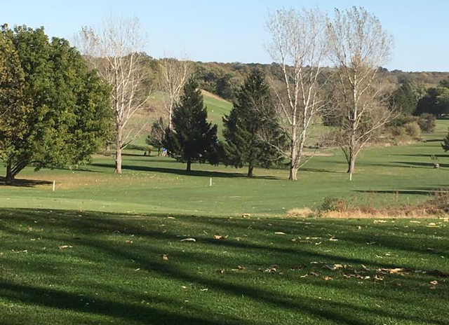 A sunny day view from Wyaton Hills Golf Course.