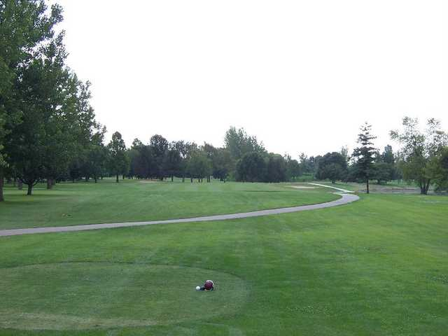 A view from a tee at Orange from University of Illinois Golf Course.