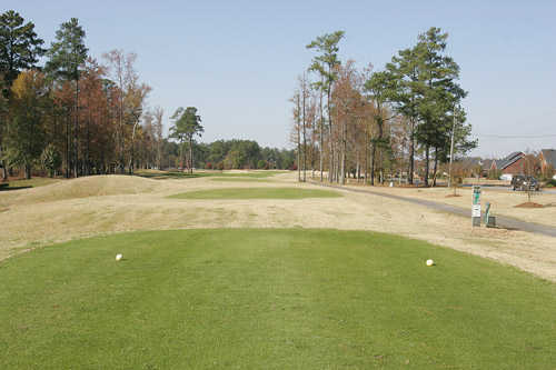 A view from the 9th tee (yellow) at Creekside Course from Traces Golf Club