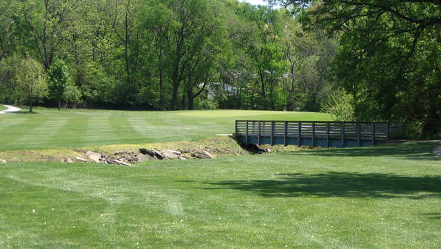 A view of green #8 at Pasfield Golf Course.