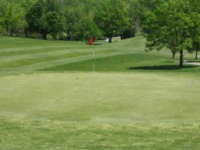 A view of hole #7 at Pasfield Golf Course.