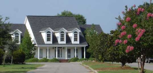 A view of the clubhouse at Crossings Golf Club