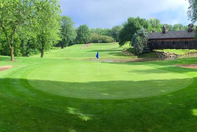 A view of a green at Eastwood Golf Course.