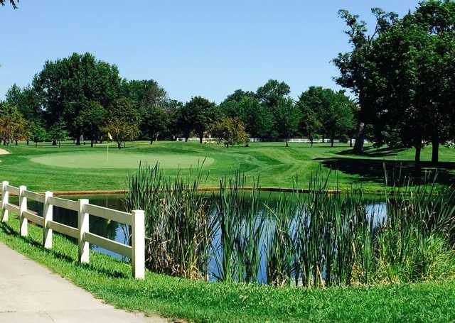 A view of a hole at Eastwood Golf Course.