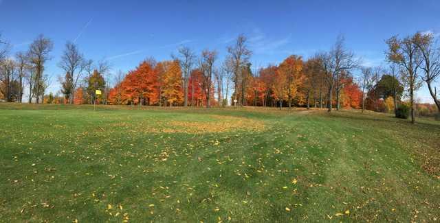 A view of a green at Hidden Valley Golf Club.