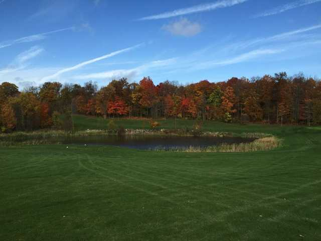 A view over the water from Hidden Valley Golf Club.