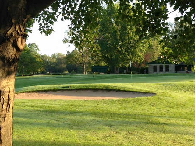 A view of a hole at Cascades Golf Course.