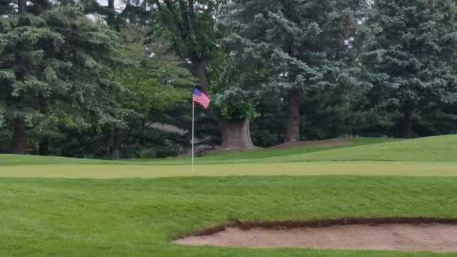 A view of a green at Elcona Country Club.