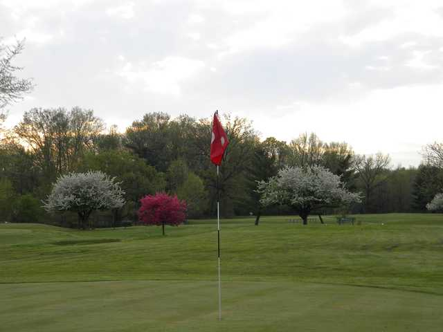 A view of a hole at Howell Par Three Golf Course.