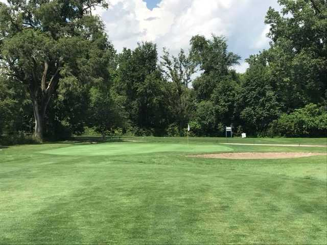 A view of a green at Hamlet Golf Course.