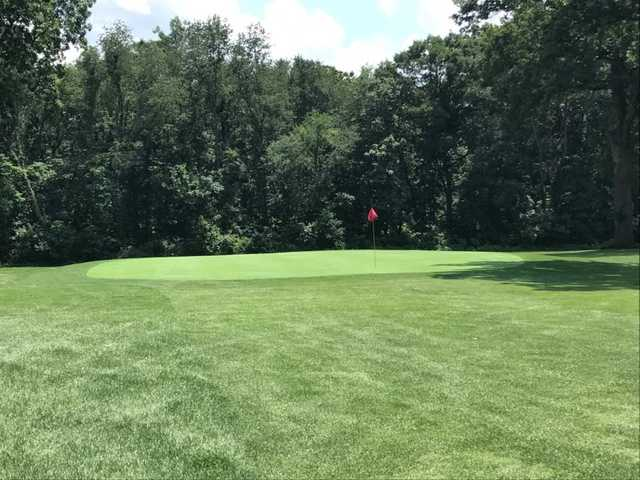 A view of the 7th hole at Hamlet Golf Course.
