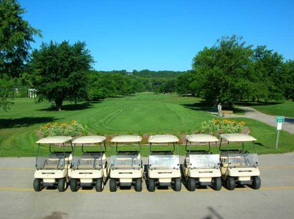 A view of a tee at Lafayette Golf Course.