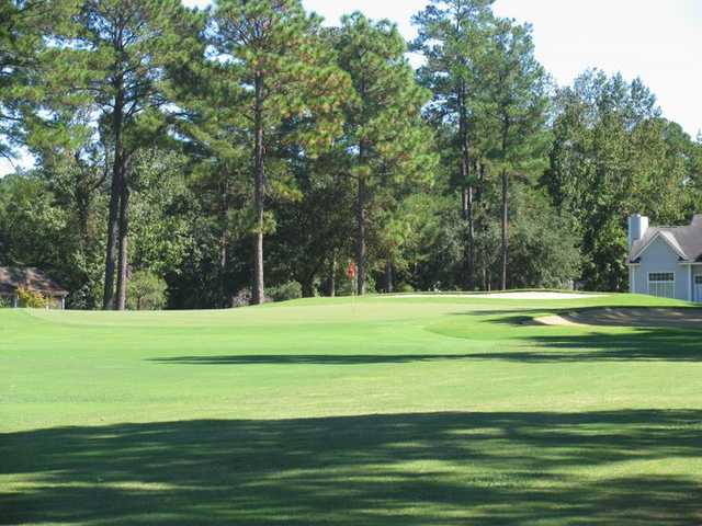 A view of green at Wedgefield Plantation Golf Club