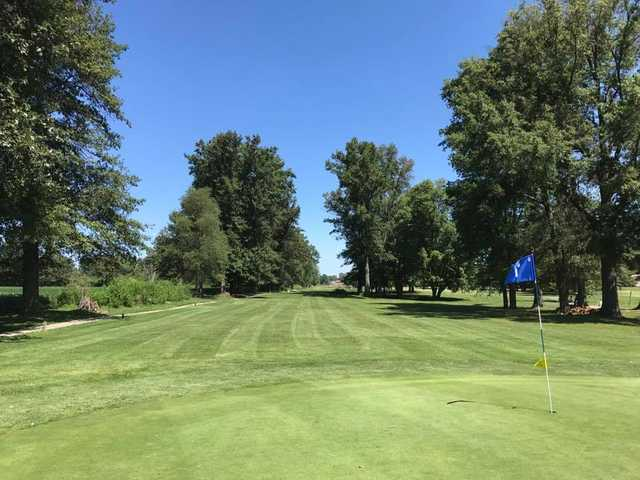 A view of green #7 at Phil Harris Golf Course.