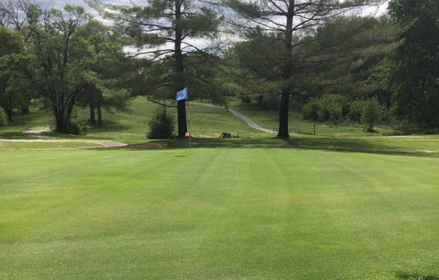 A view of a hole at Phil Harris Golf Course.