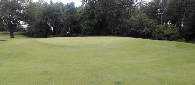 A view of a green at River Chase Golf Course.