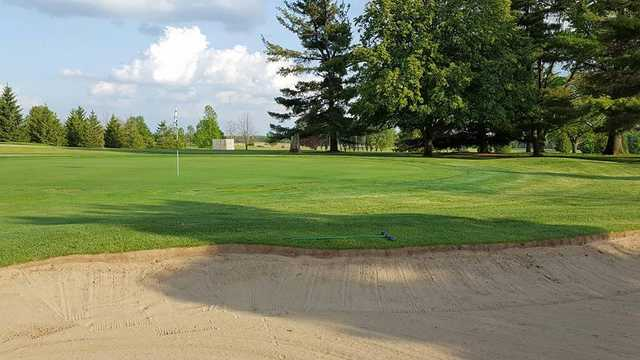 A view of a green at Arbor Trace Golf Club.