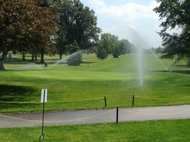 A view of a hole at Arbor Trace Golf Club.
