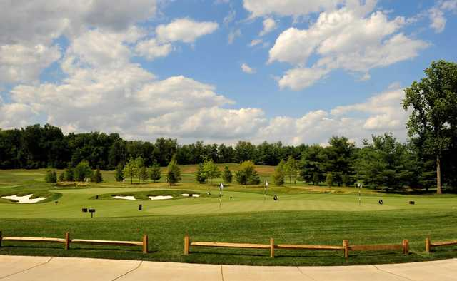 View of the putting green from TPC Potomac at Avenel Farm