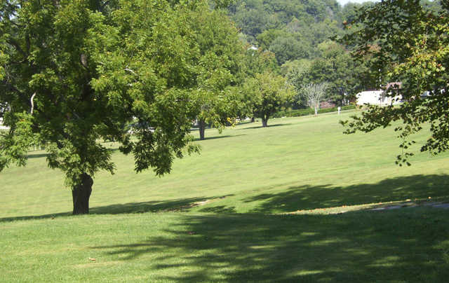 A view of a fairway at Paoli Country Club.