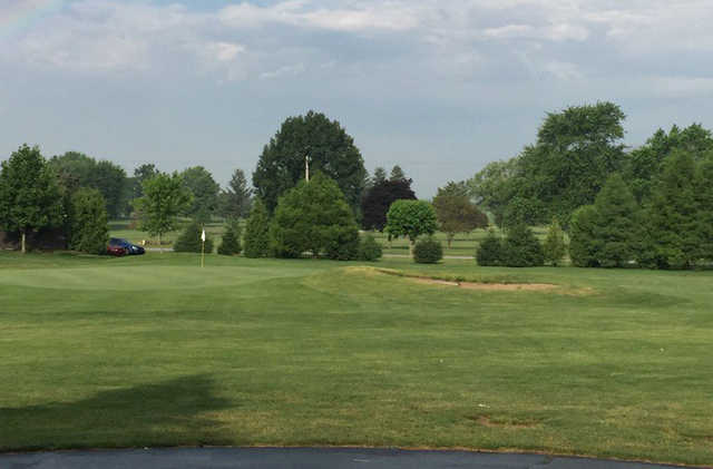 A view of a green at Tipton Golf Course.