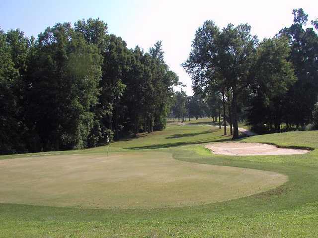 A view of the 2nd green at Shannon Greens Golf Club