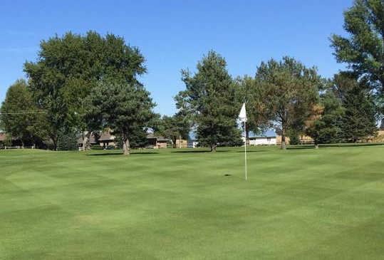 A view of a green at Marcus Golf Club.