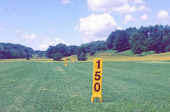 A view from the driving range at Green Valley Golf Course.