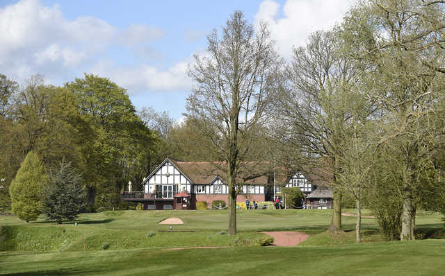 View of the clubhouse at Lilleshall Hall Golf Club