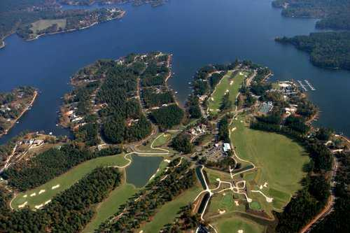 Aerial view from The Patriot Golf Club at Grand Harbor.