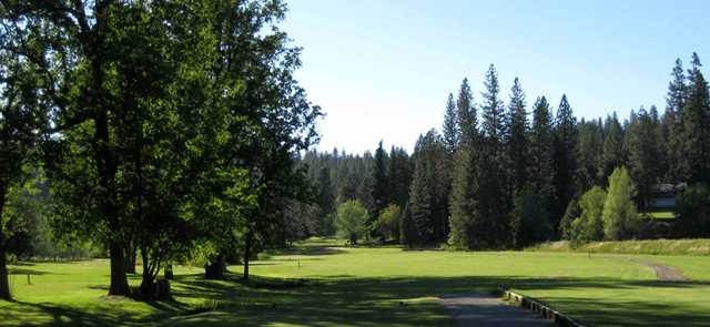 View of a tee at Mace Meadow Golf Club