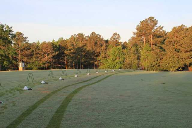 A view of the driving range at Mount Vintage Plantation Golf Club