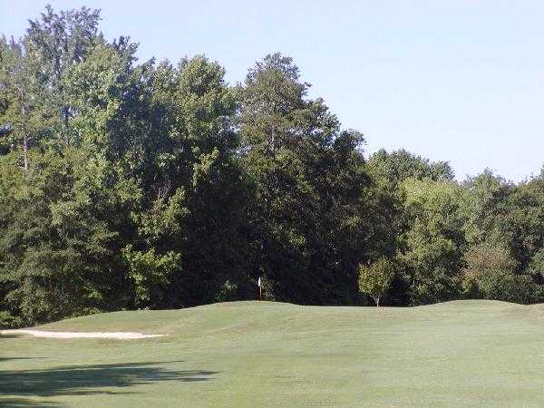 A view of green #3 at Pinetuck Golf Course