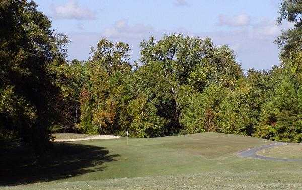 A view of the 5th hole at Pinetuck Golf Course