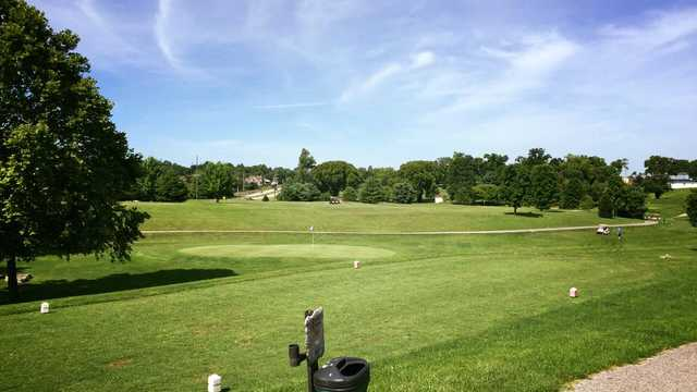 A view of a tee and a green in background at Lakeview Springs Golf Complex (Brad Keesler).