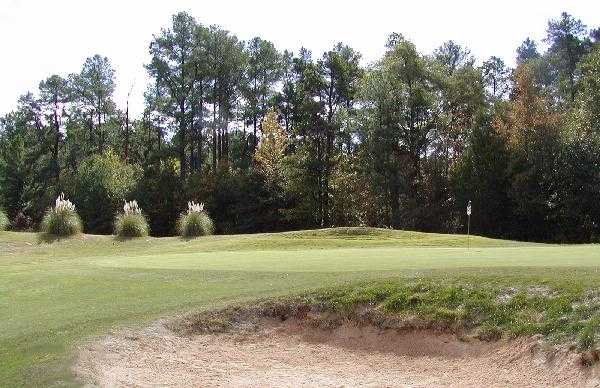 A view of the 5th green at Pinetuck Golf Course