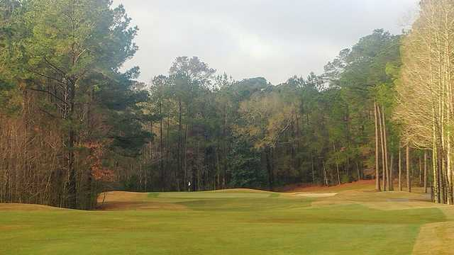 View of a green from Lost Plantation Golf Club