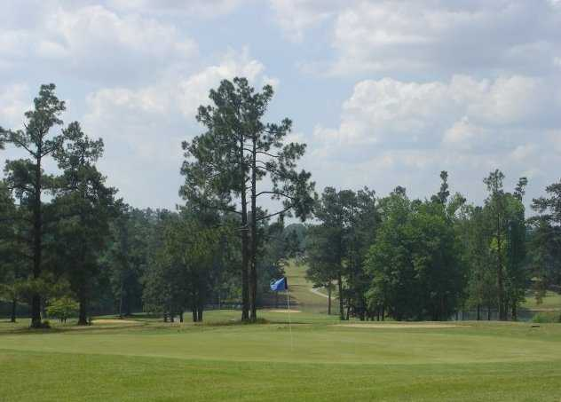 A view of the 10th green at Calhoun Country Club