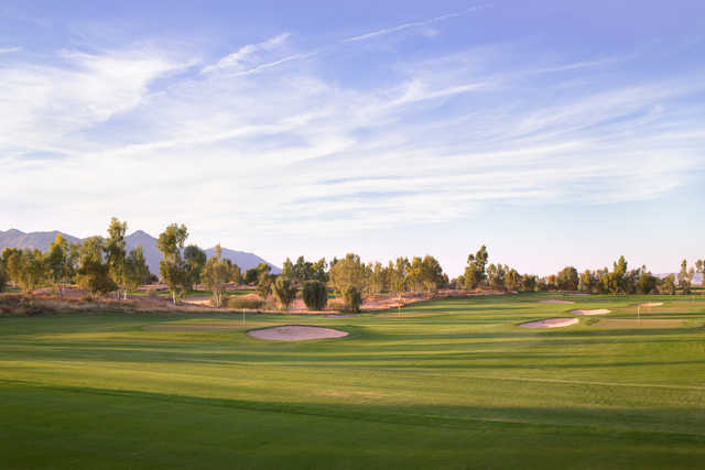 View from the 6-holes practice course at Ak-Chin Southern Dunes Golf Club