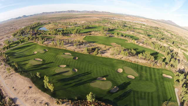 Aerial view of the MiniDunes practice course from Ak-Chin Southern Dunes Golf Club