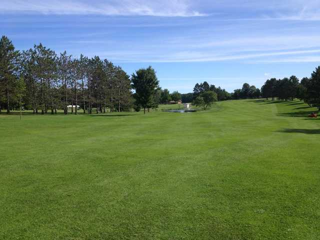 A sunny day view from Moose Lake Golf Club.