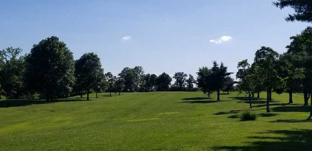 A view from the 1st fairway at River Valley Community Golf Course.