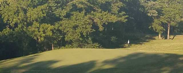 A view of a green at River Valley Community Golf Course.