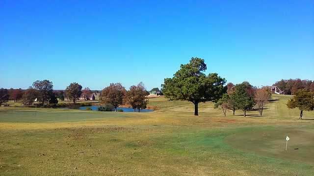 A view of a green at Hidden Trails Country Club.